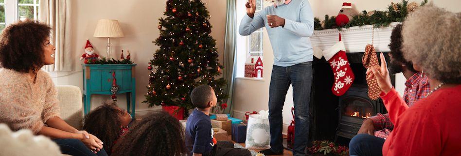 Weihnachtsspiele für ein Fest im Kreise der Familie