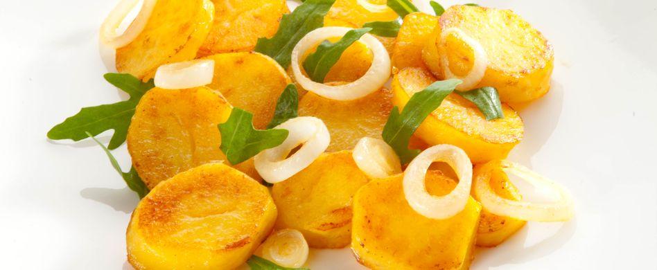 Knusprige Bratkartoffeln mit Rauke