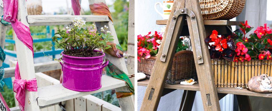 Blumentreppe selber bauen: Kreative Ideen