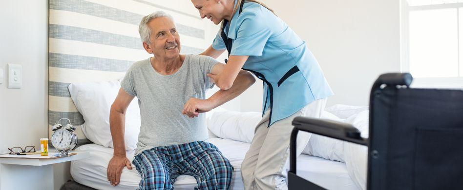 Pflegeheim: Sichere Umgebung rund um die Uhr