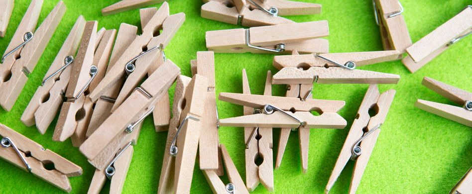 Wäscheklammern aus Holz: 5 geniale Verwendungen für die Alleskönner